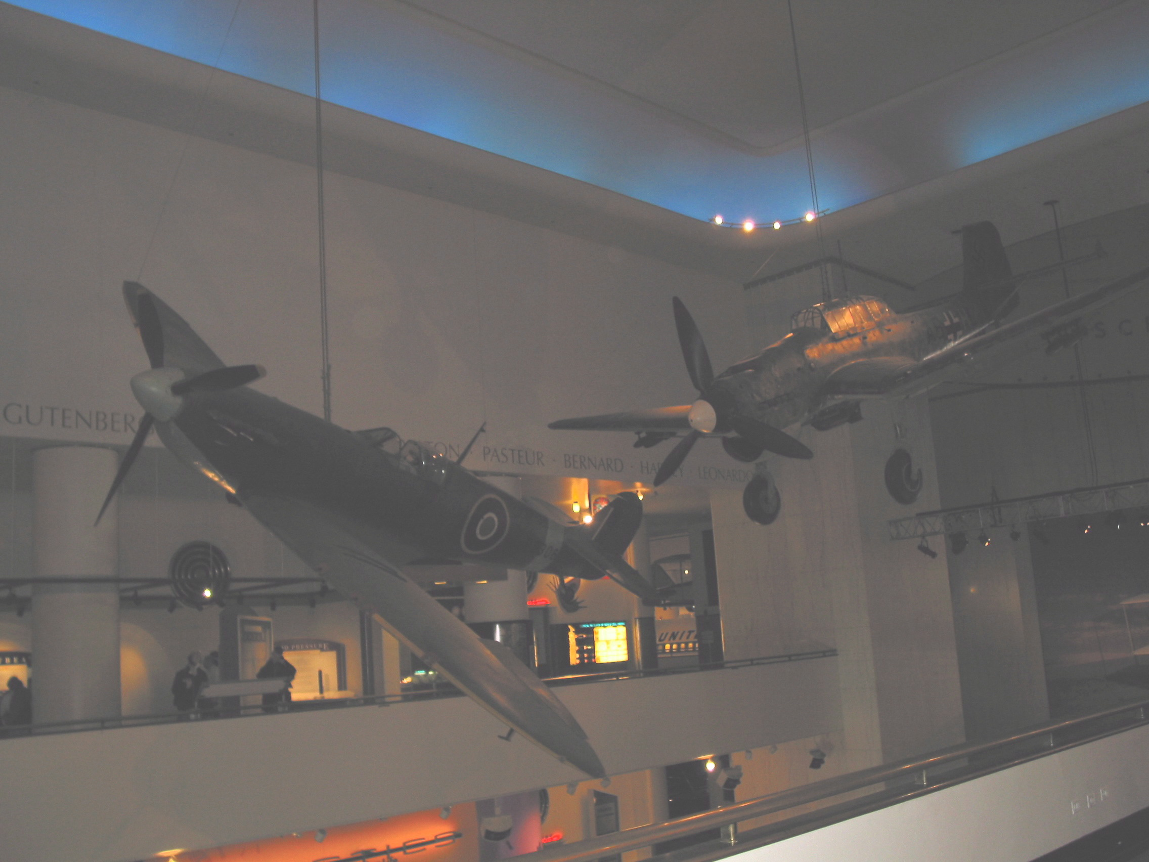 Spitfire Hanging From Ceiling